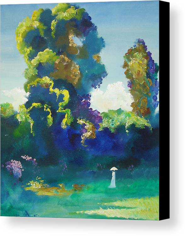 Landscape Canvas Print featuring the painting Warm Evening by Andrej Vystropov