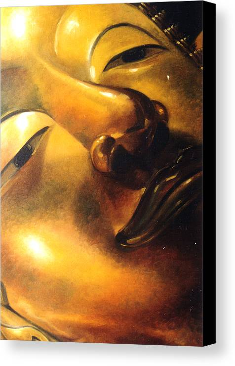 Oil Canvas Print featuring the painting Virtue by Chonkhet Phanwichien