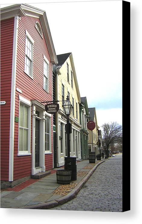 Street Canvas Print featuring the photograph New Bedford Street by Heather Weikel