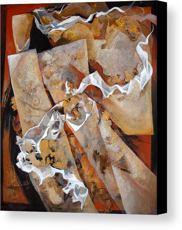 Contemporary Canvas Print featuring the painting Crossover by Dale Witherow