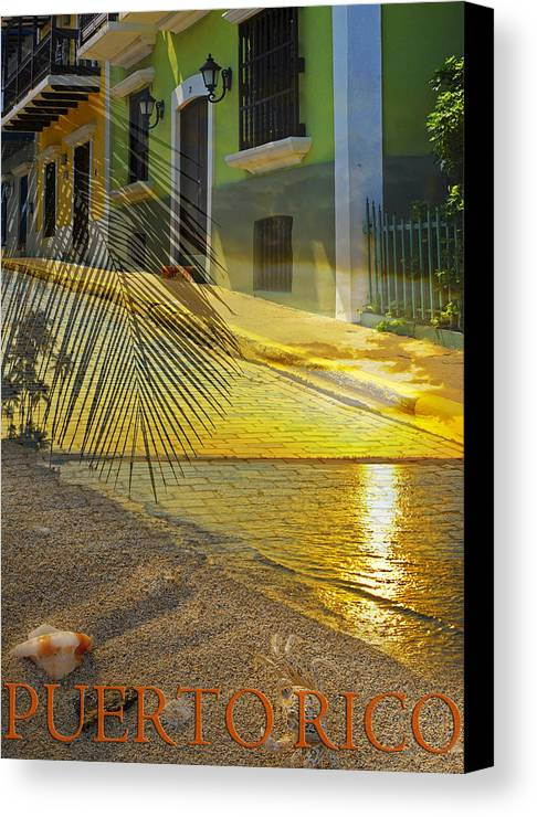 Puerto Rico Canvas Print featuring the photograph Puerto Rico Collage 3 by Stephen Anderson