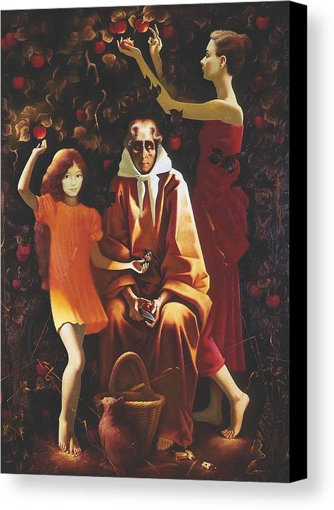 Figures Canvas Print featuring the painting All Will Pass by Andrej Vystropov