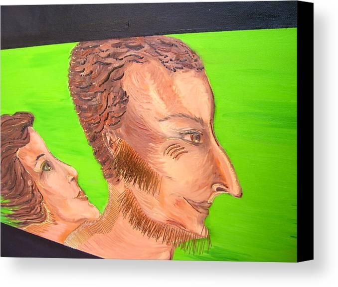 Art Canvas Print featuring the painting Love - Fragment by Svetlana Vinokurtsev