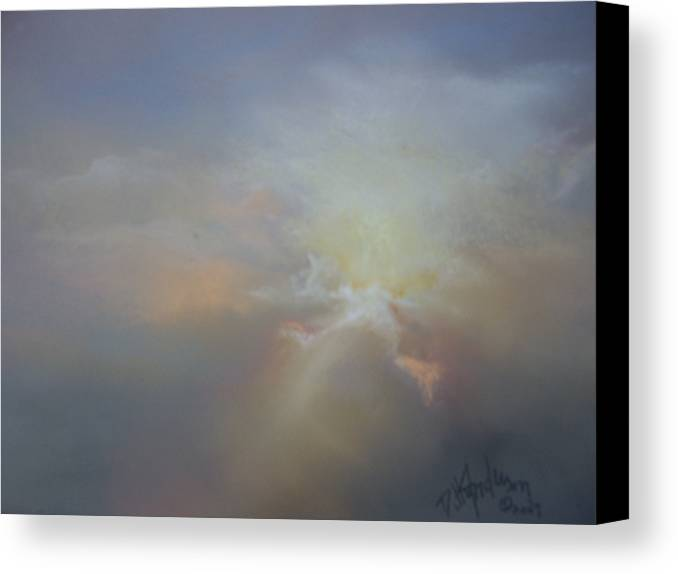 Skyscape Canvas Print featuring the painting Spoken Softly by Debbie Anderson