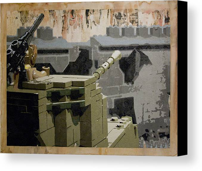 Lego Canvas Print featuring the painting The Storming Of Berlin by Josh Bernstein