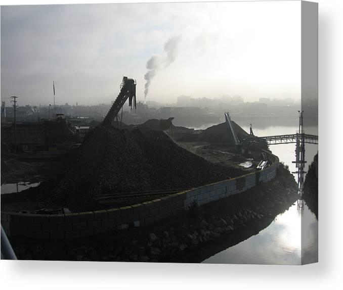 Photograph Ship Yard Ocean Water Victoria Canvas Print featuring the photograph Shipyard by Seon-Jeong Kim