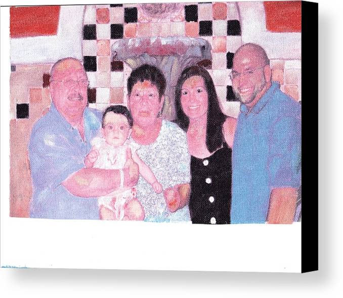 Family Canvas Print featuring the painting Family by David Poyant