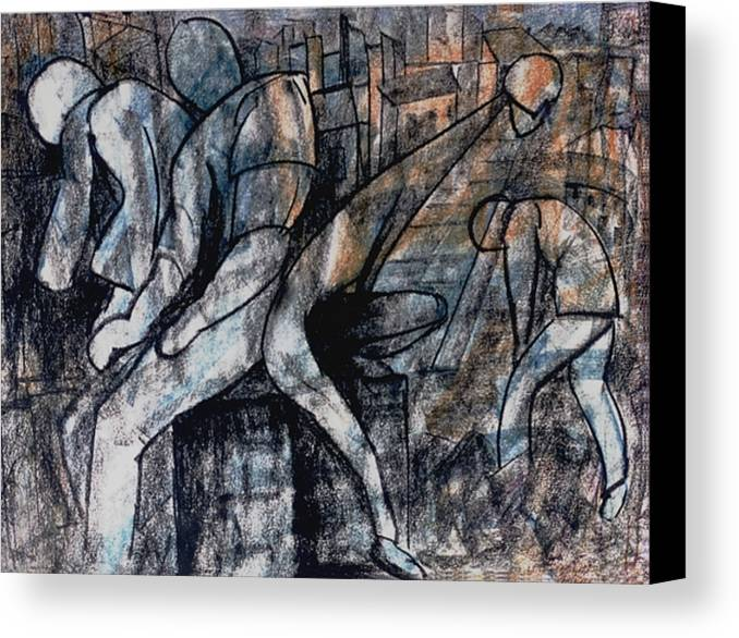 Art Canvas Print featuring the drawing Post-modern Haste by Mushtaq Bhat