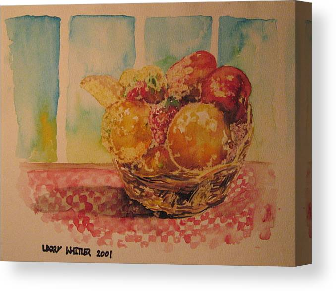 Fruit Canvas Print featuring the painting Fruitbasket by Larry Whitler