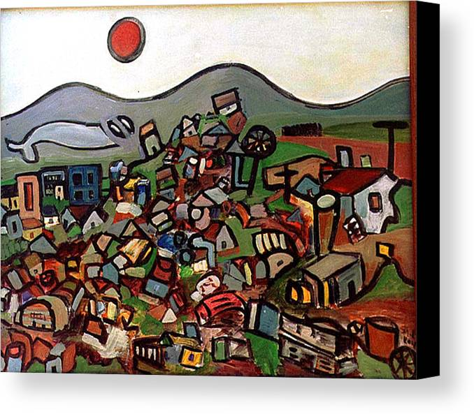 Montain Canvas Print featuring the painting Trash Montain by Michael Keogh