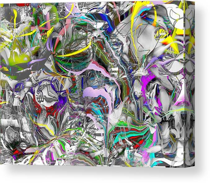 Abstract Canvas Print featuring the digital art Big Wire by Dave Kwinter