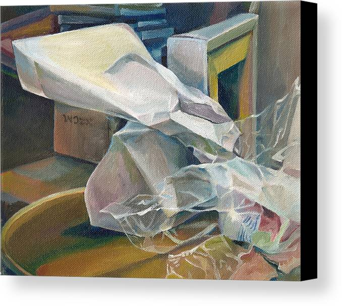 Still Life Canvas Print featuring the painting Still Life No.3 by Julie Orsini Shakher