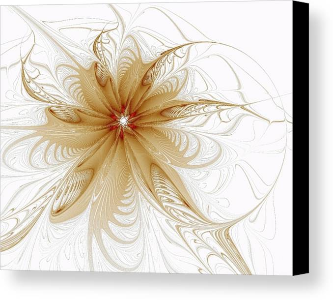 Digital Art Canvas Print featuring the digital art Wispy by Amanda Moore