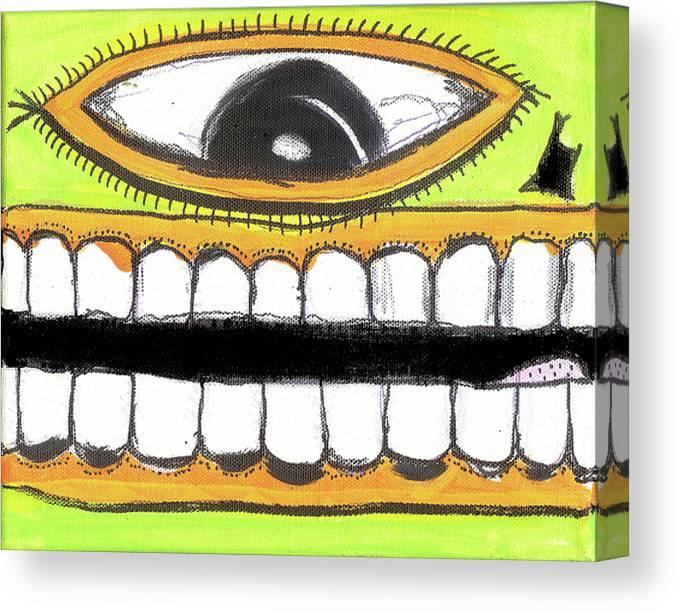 Rwjr Canvas Print featuring the digital art I Like 2 Smile Ls by Robert Wolverton Jr