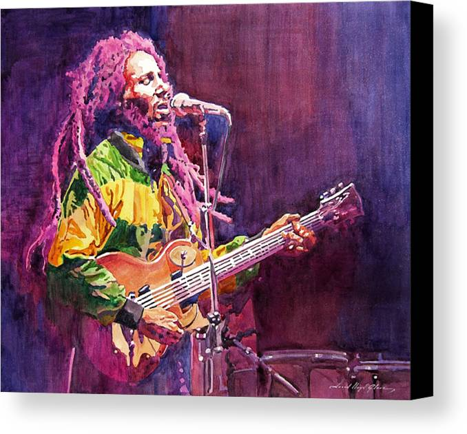 Bob Marley Canvas Print featuring the painting Jammin - Bob Marley by David Lloyd Glover