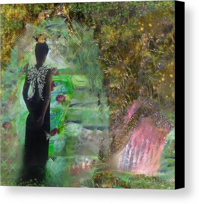 Woman Canvas Print featuring the painting Good Bye by Michaela Kraemer