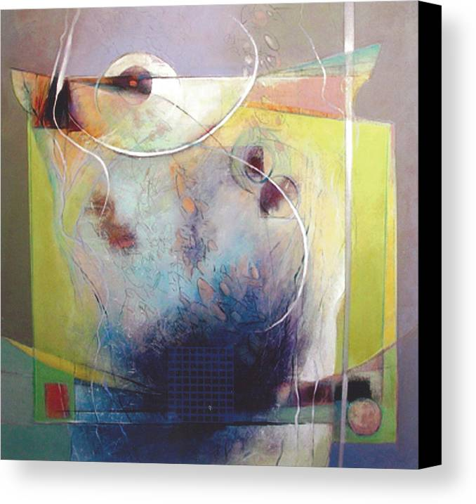 Abstract Canvas Print featuring the painting Altar by Dale Witherow