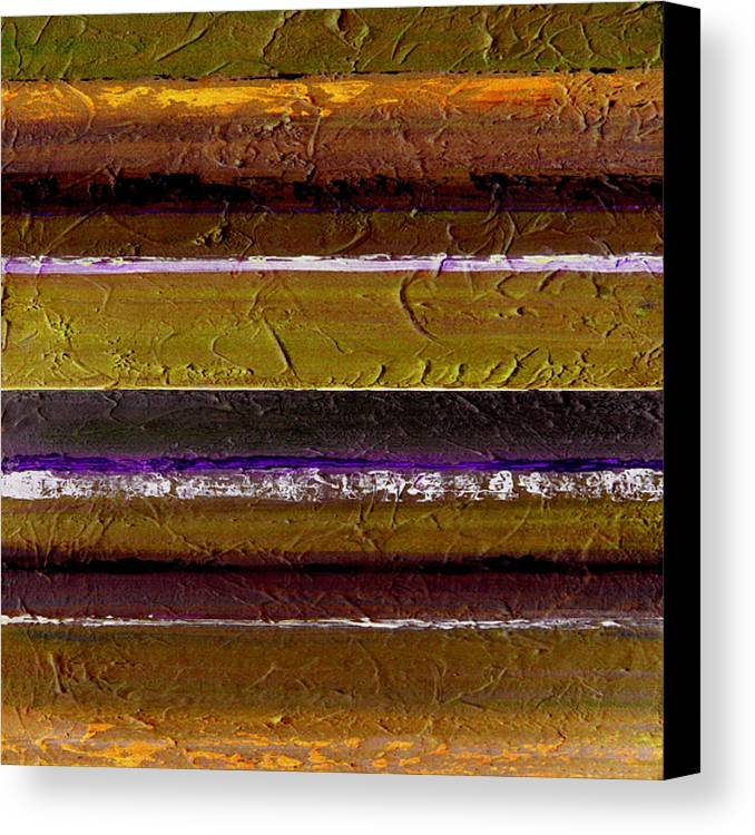 Abstract Canvas Print featuring the painting Lined Up by Ruth Palmer