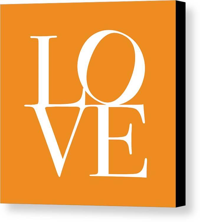Love Canvas Print featuring the digital art Love In Orange by Michael Tompsett