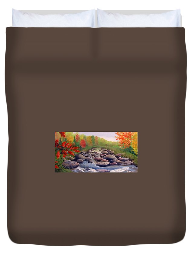 Rick Huotari Duvet Cover featuring the painting Cherokee Park by Rick Huotari