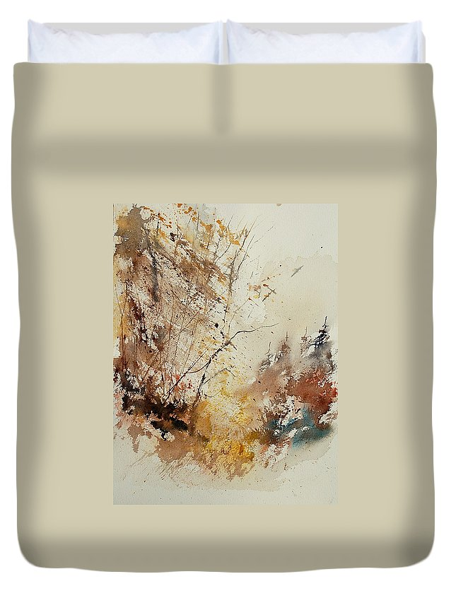 Tree Duvet Cover featuring the painting Watercolor 903012 by Pol Ledent