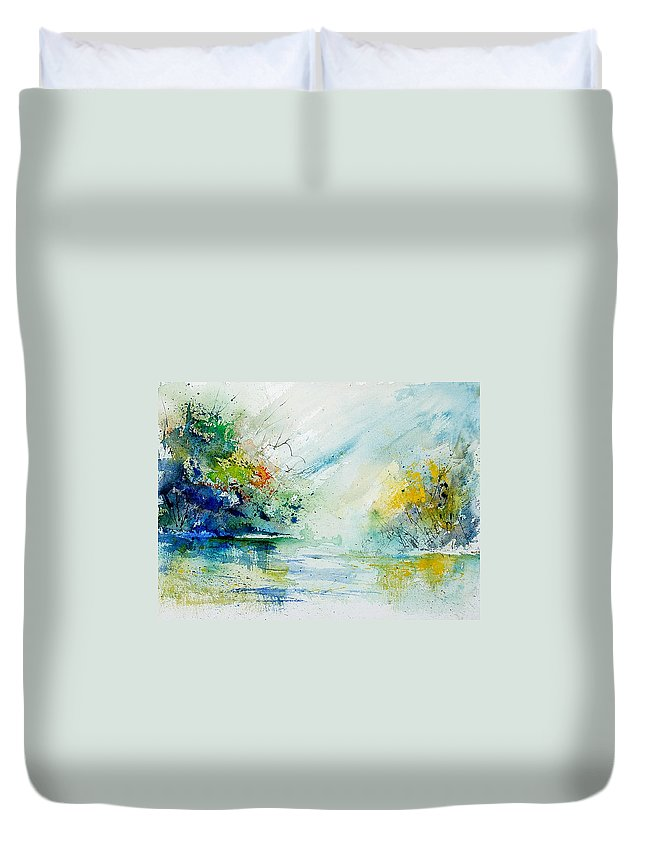 Water Duvet Cover featuring the painting Watercolor 903022 by Pol Ledent