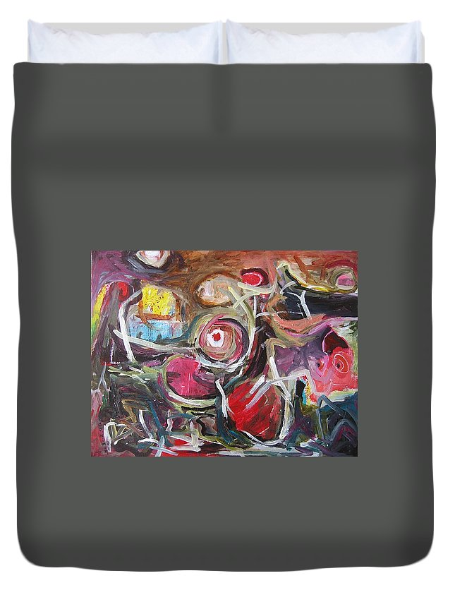 Abstract Paintings Duvet Cover featuring the painting Abandoned Ideas3 by Seon-Jeong Kim