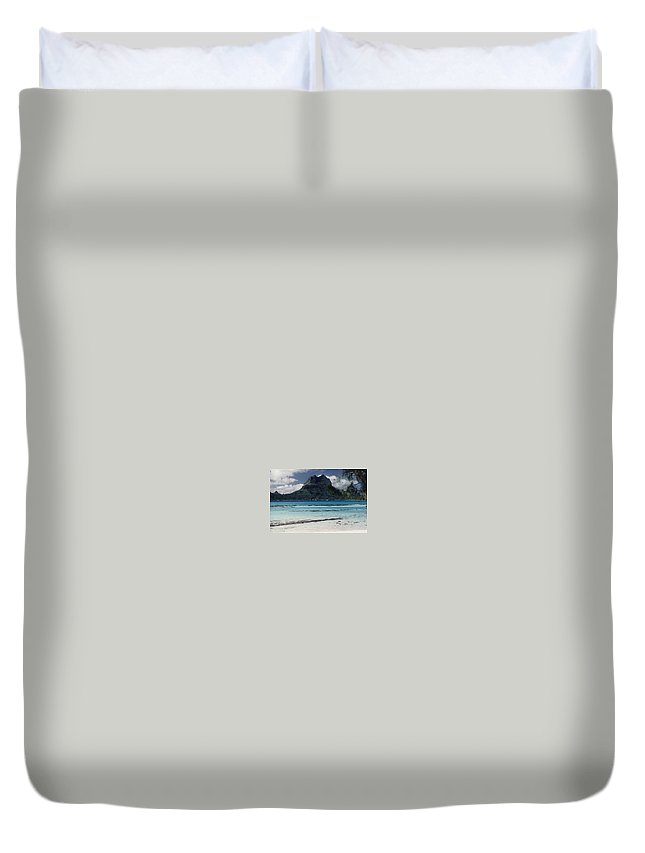 Charity Duvet Cover featuring the photograph Bora Bora by Mary-Lee Sanders