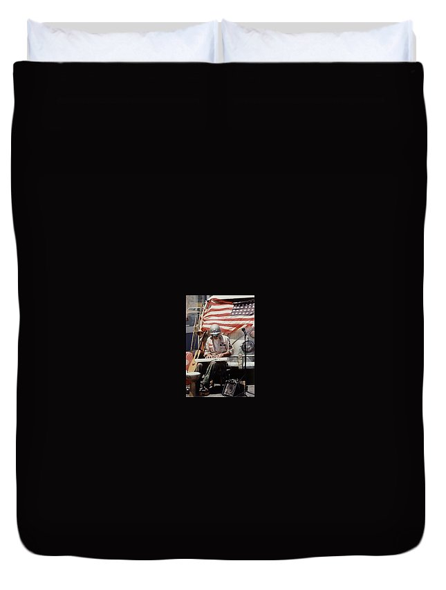 Charity Duvet Cover featuring the photograph Born In The Usa by Mary-Lee Sanders
