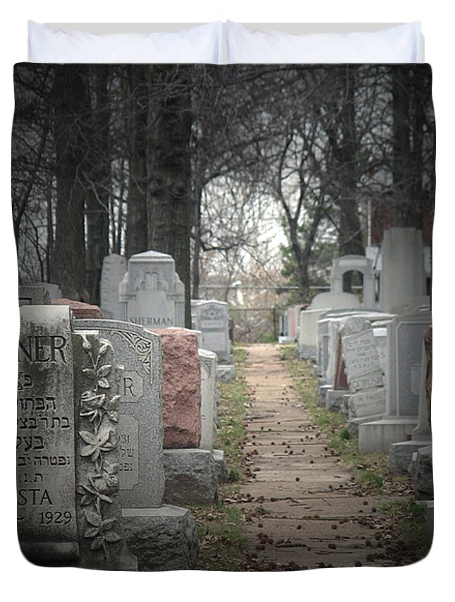 Cemetary Duvet Cover featuring the photograph Closure by Albert Stewart