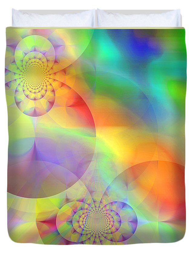 Abstract Duvet Cover featuring the digital art Mind Over Matter by Ruth Palmer