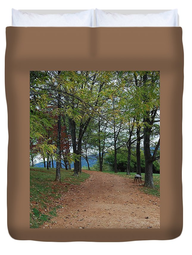 Path Duvet Cover featuring the photograph Pathway by Eric Liller