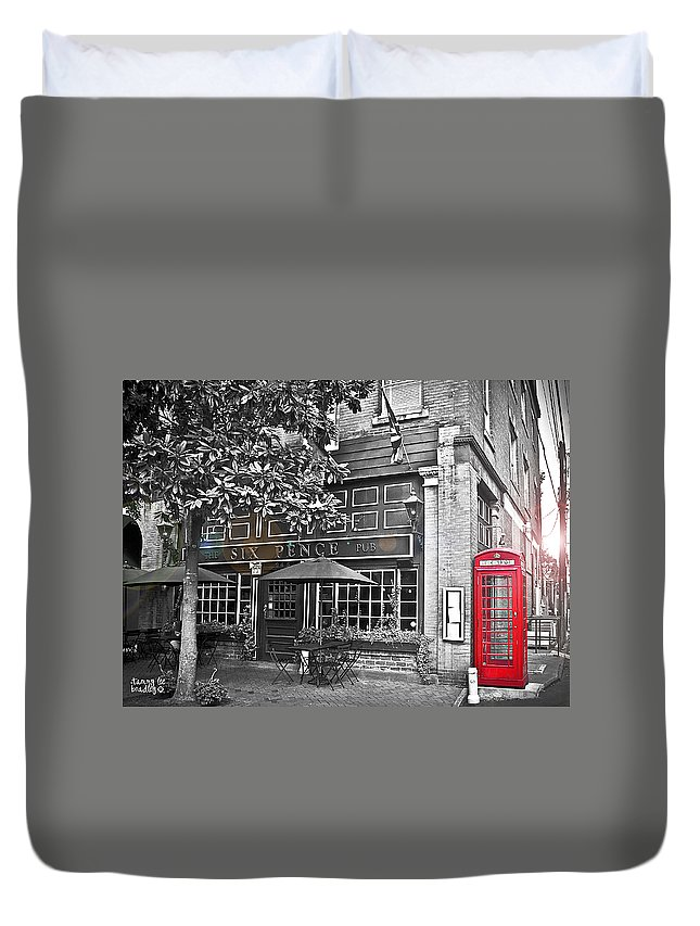 Pub Duvet Cover featuring the photograph pub by Tammy Lee Bradley