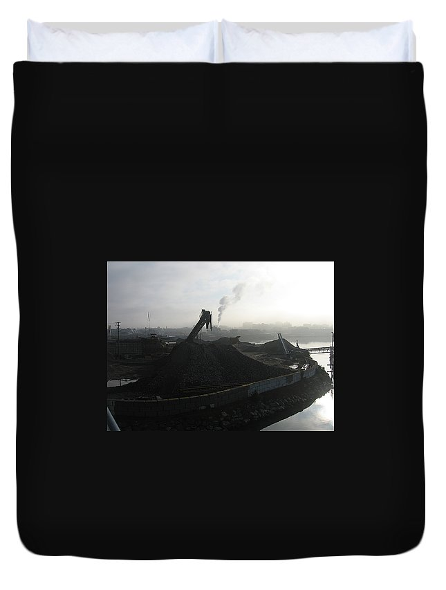 Photograph Ship Yard Ocean Water Victoria Duvet Cover featuring the photograph Shipyard by Seon-Jeong Kim