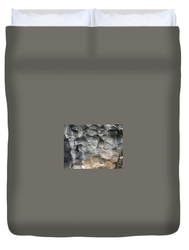 Photograph Softstone Soft Stone Newfoundland Atlantic Baieverte Duvet Cover featuring the photograph Softstone by Seon-Jeong Kim