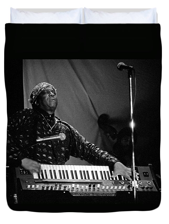 Sun Ra Duvet Cover featuring the photograph Sun Ra 1 by Lee Santa