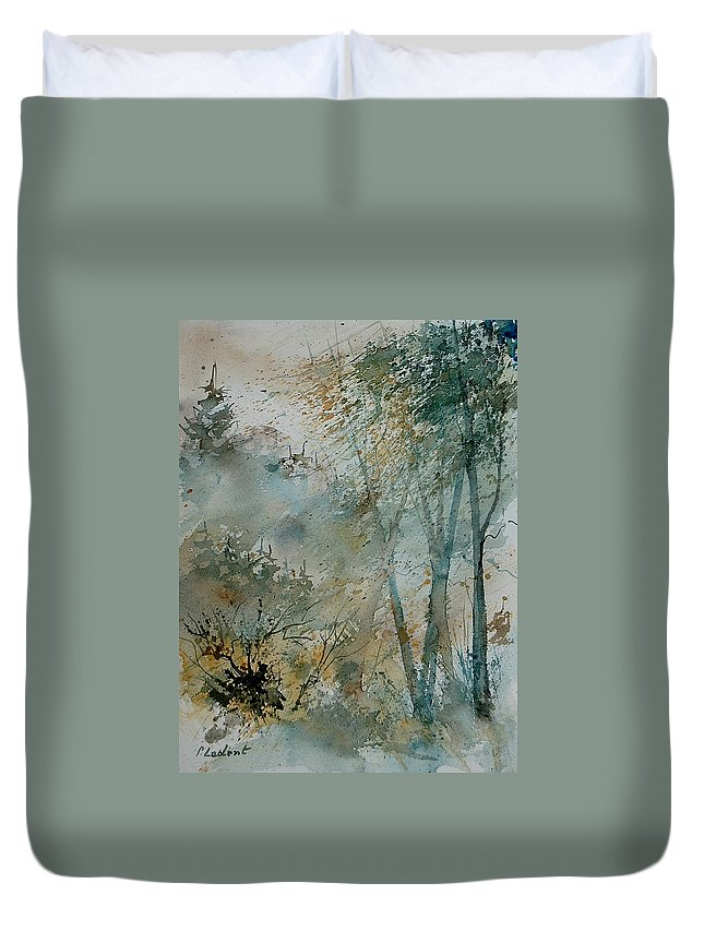 Tree Duvet Cover featuring the painting Watercolor 051008 by Pol Ledent