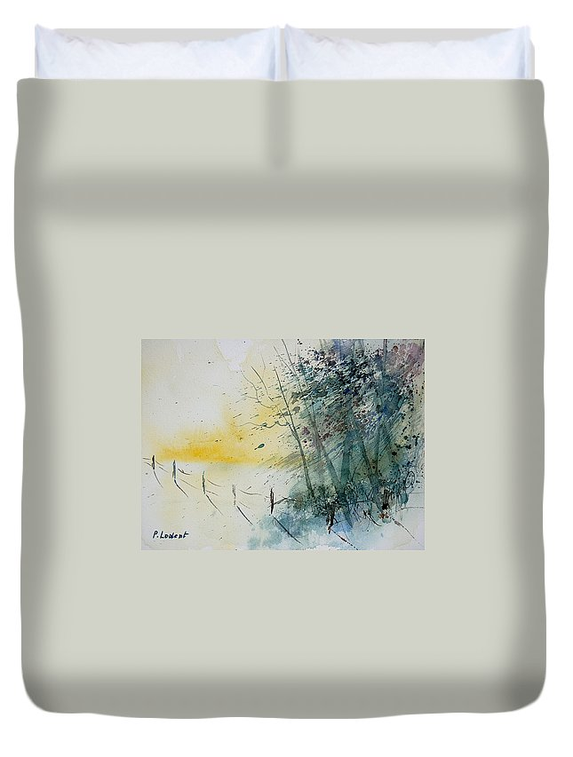 Winter Duvet Cover featuring the painting Watercolor 080708 by Pol Ledent