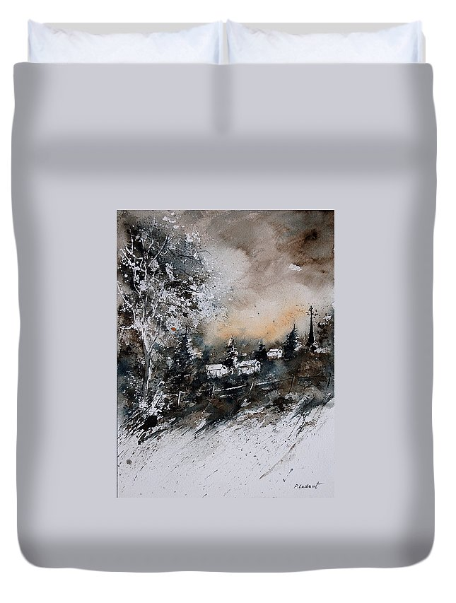 Winter Duvet Cover featuring the painting Watercolor 121206 by Pol Ledent