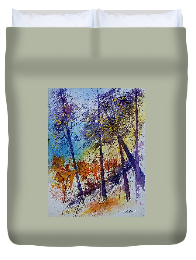Spring Duvet Cover featuring the painting Watercolor 131108 by Pol Ledent