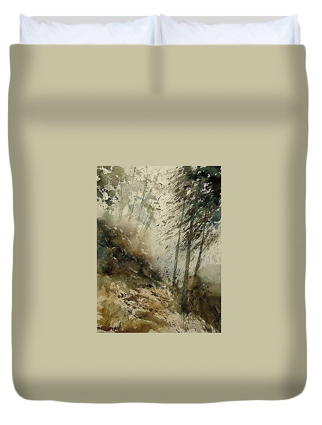 Tree Duvet Cover featuring the painting Watercolor 271005 by Pol Ledent