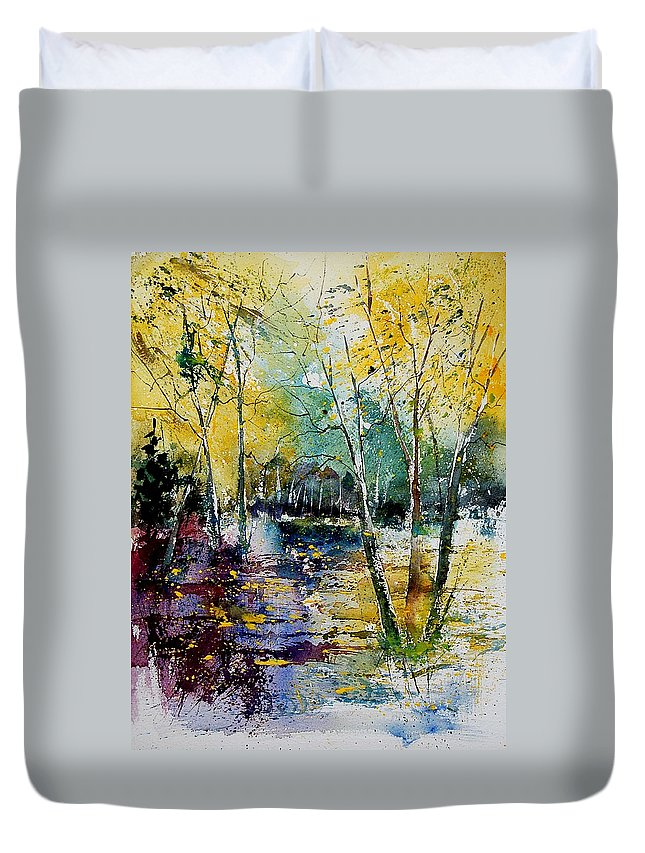 Water Duvet Cover featuring the painting Watercolor 280808 by Pol Ledent