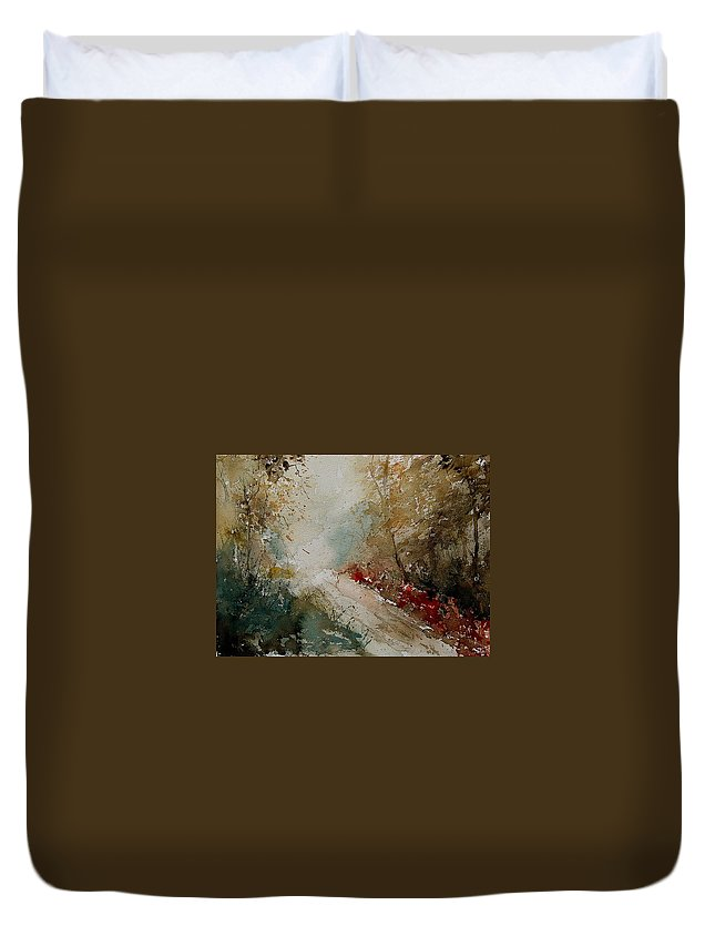 Tree Duvet Cover featuring the painting Watercolor 311005 by Pol Ledent