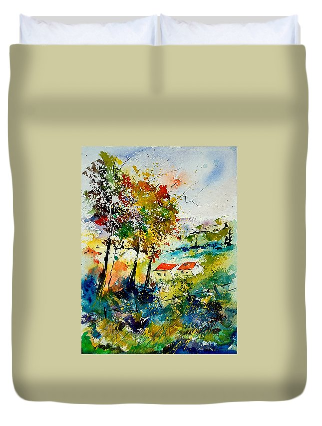 Poppies Duvet Cover featuring the painting Watercolor 903001 by Pol Ledent