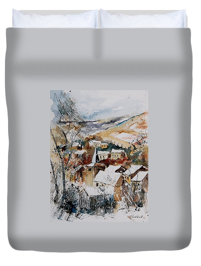 Winter Duvet Cover featuring the painting Watercolor 904002 by Pol Ledent