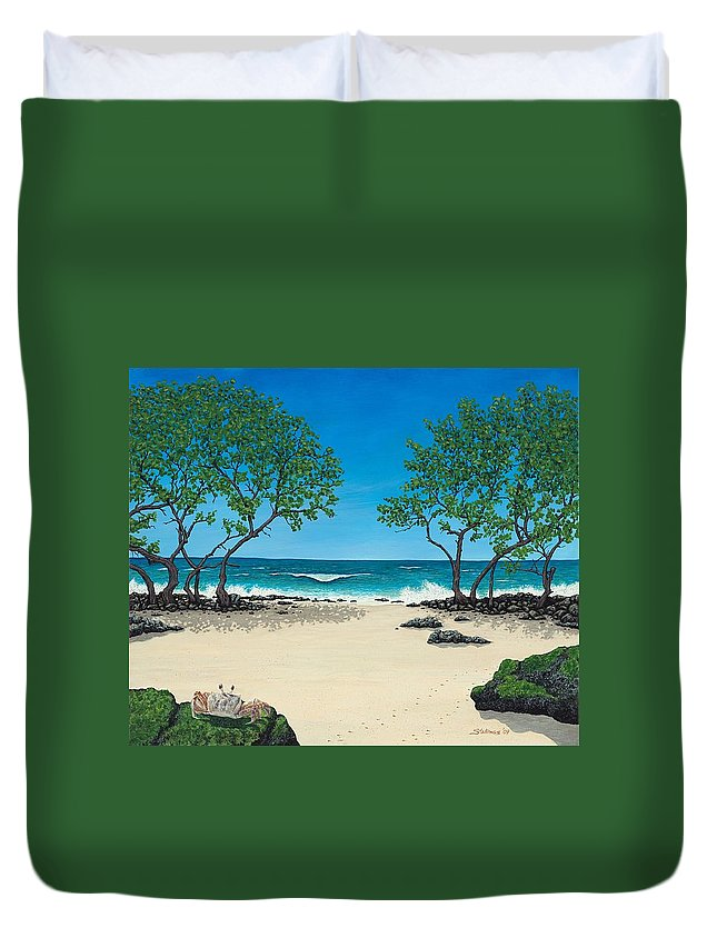 Ocean Duvet Cover featuring the painting Where Is My Corona by Shawn Stallings