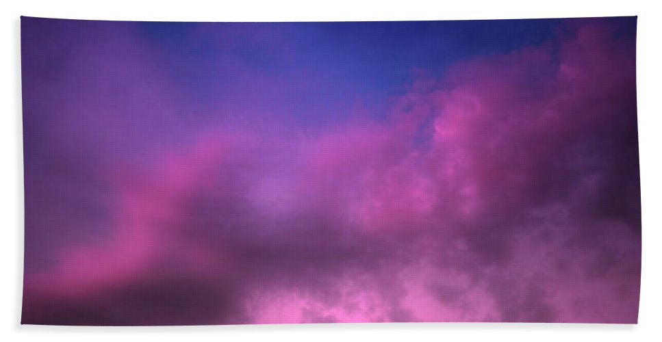 Clouds Hand Towel featuring the photograph Purple Haze by Tara Turner