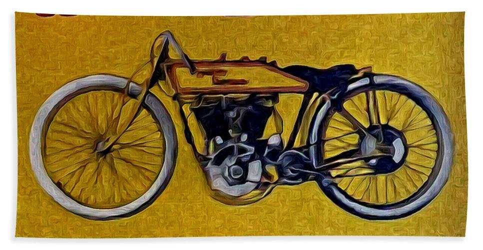 Vintage Harley Davidson Hand Towel featuring the photograph Vintage Harley Davidson by Bill Cannon
