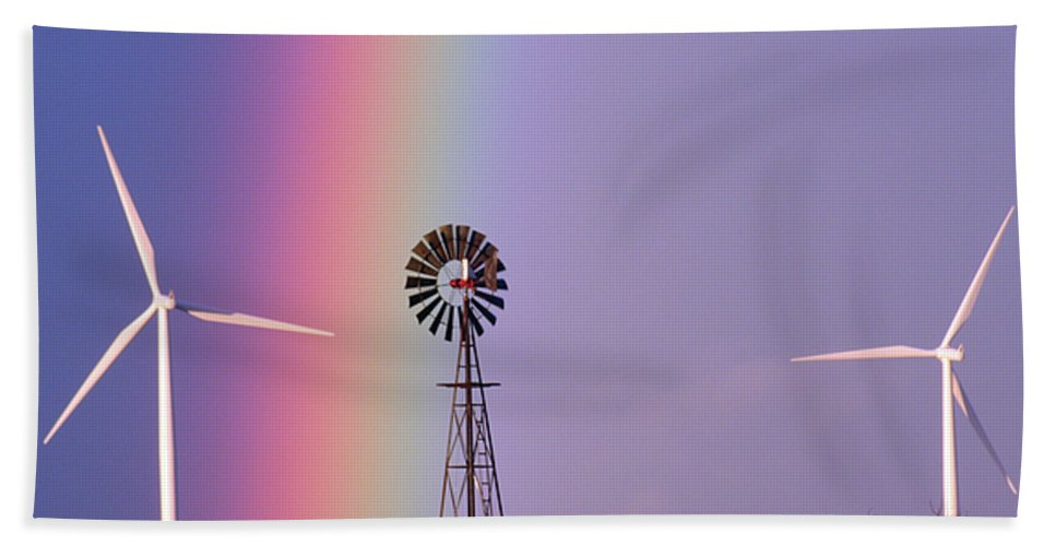 Windmills Bath Sheet featuring the photograph Windmill Promises Old And New by Alycia Christine