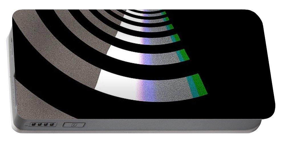 Art Digital Art Portable Battery Charger featuring the digital art B-wmazezoom5 by Alex Porter